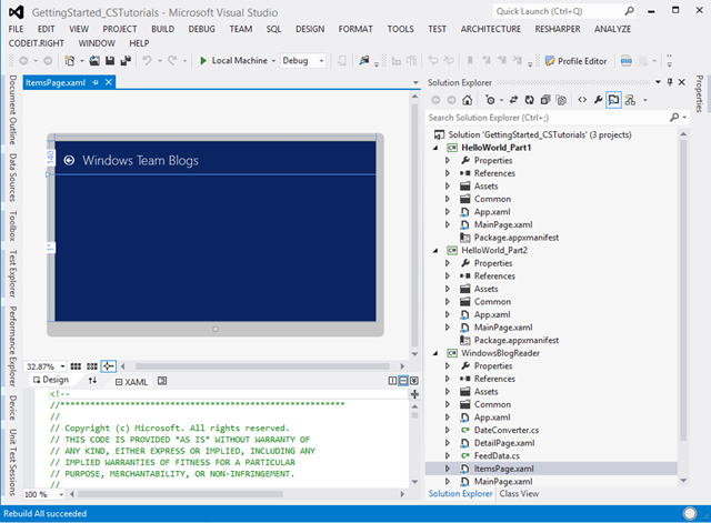 Adding Design Time (Blend and Visual Studio 2012) Support to