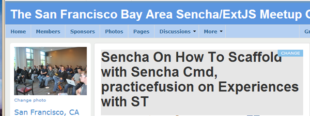 Another SF Bay Area Sencha/ExtJS Meetup Done / CMD, Fastbook