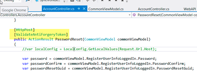 All ASP NET MVC Forms Need To Include Html AntiForgeryToken() For
