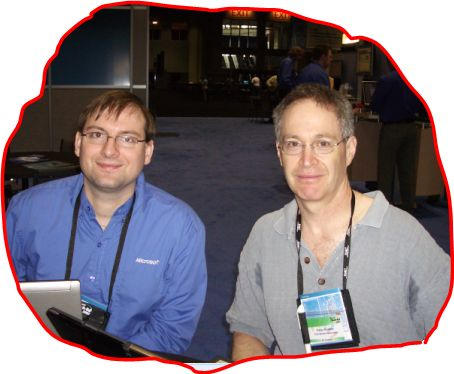 Peter Kellner and Steve Carroll of Microsoft