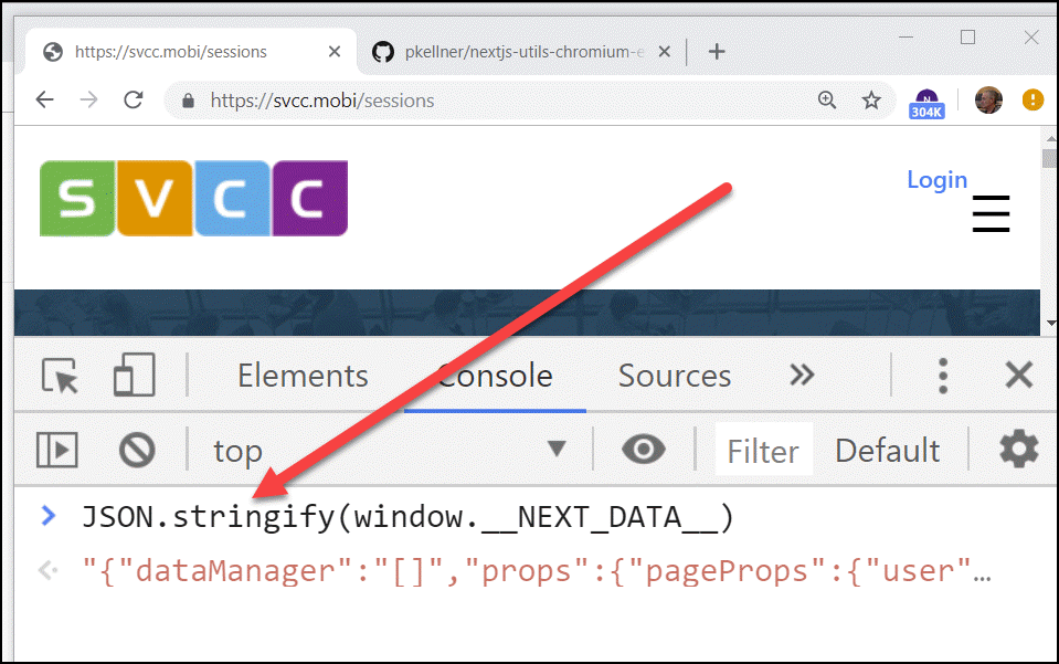 Chrome Extension for Viewing Static Data in NextJS - Peter